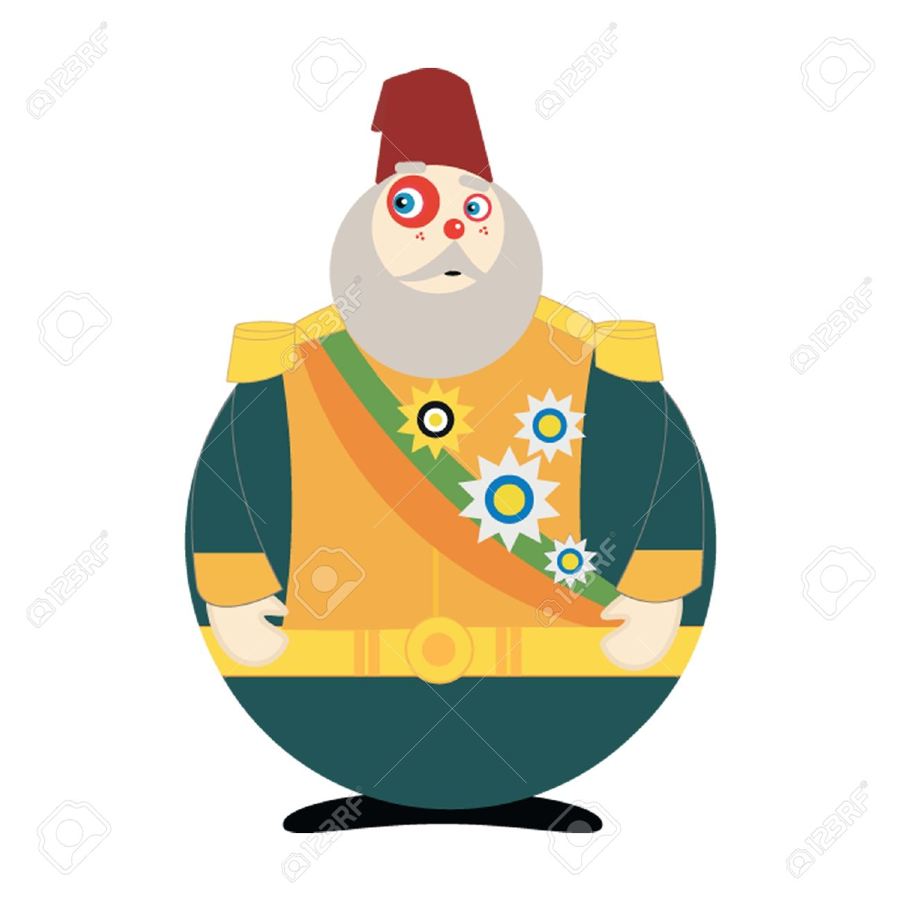 Ottoman Pasha Royalty Free Cliparts, Vectors, And Stock.