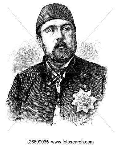 Stock Illustration of Ismail Pasha, portrait k36699065.