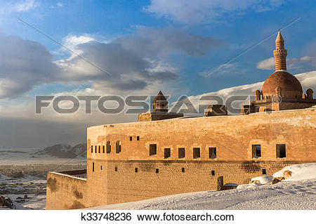 Stock Images of Ishak Pasha Palace Turkey k33748236.