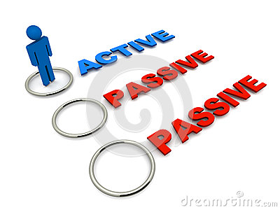 Passive Or Active Stock Illustration.