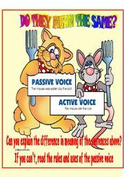 Passive voice clipart.