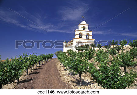 Stock Images of USA, California, Paso Robles, Spanish Mission.