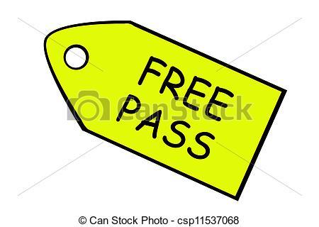 Free Pass Clip Art.
