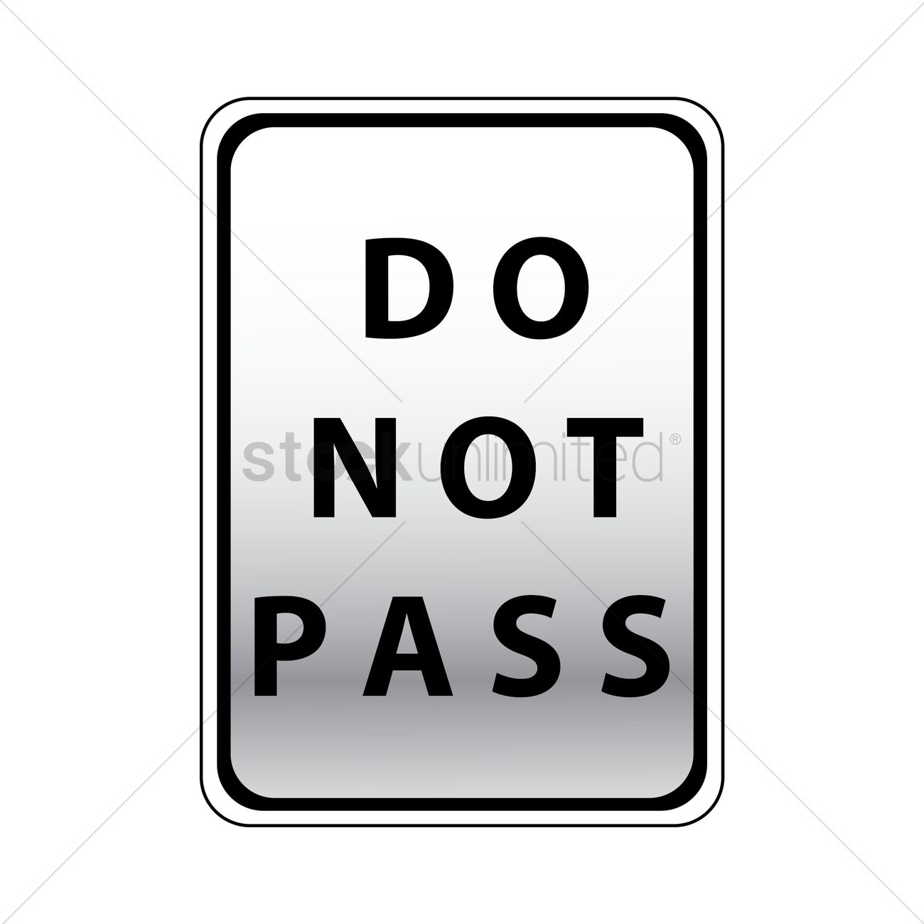 Do not pass road sign Vector Image.