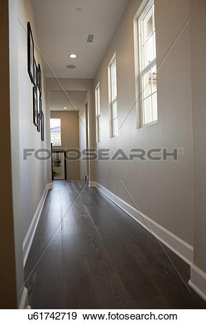 Stock Photograph of Narrow passageway in average house u61742719.