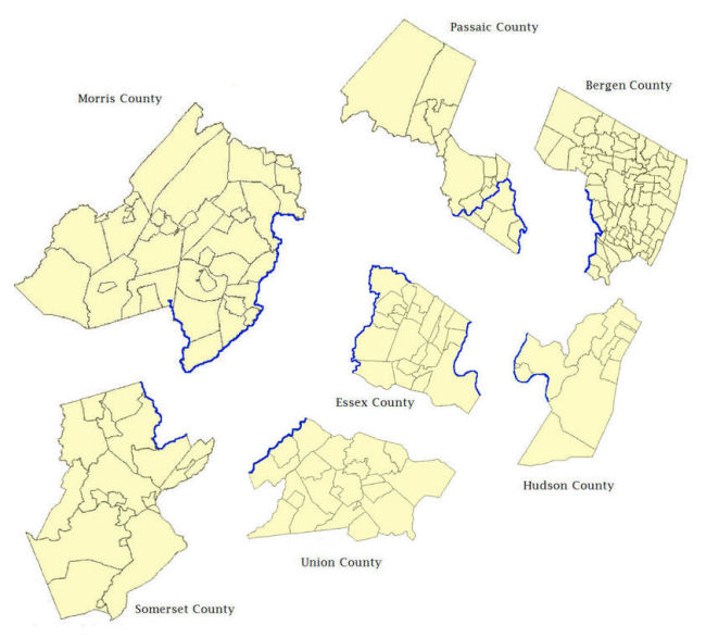 Passaic River Maps.