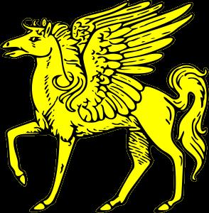 Pegasus passant Clipart, vector clip art online, royalty free.