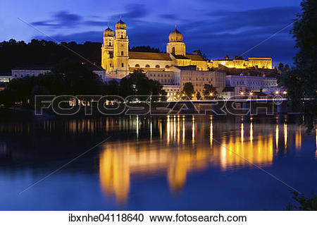 Stock Photography of St Stephen's Cathedral, Passau, Bavaria.