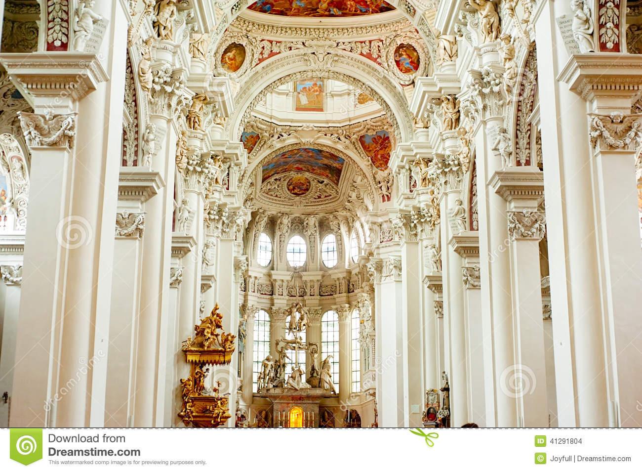 Organ At Passau Cathedral Stock Image.