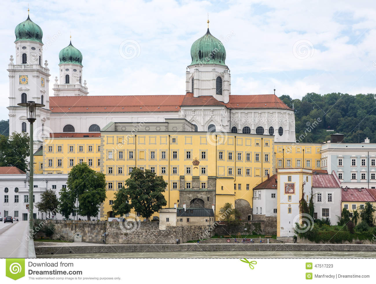 St. Stephen's Cathedral In Passau Stock Photo.