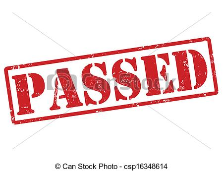 Vector Clip Art of Passed stamp.