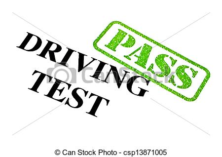 Clipart passed driving test.