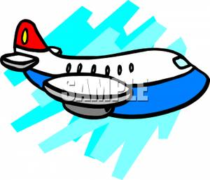 Cartoon Passenger Jet.