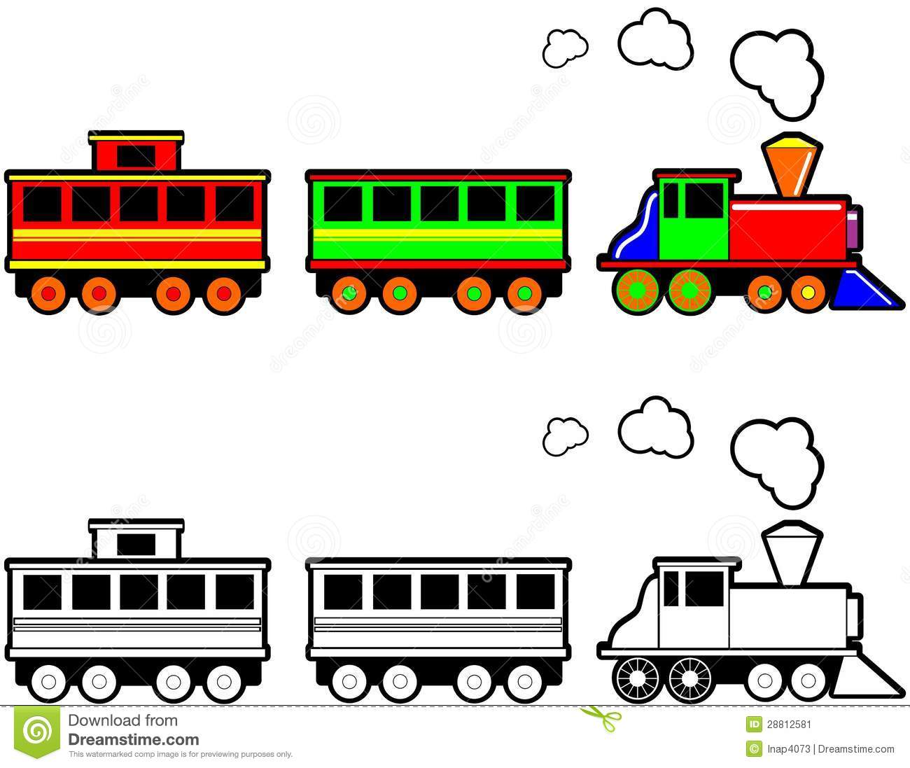 Train passenger car clipart.