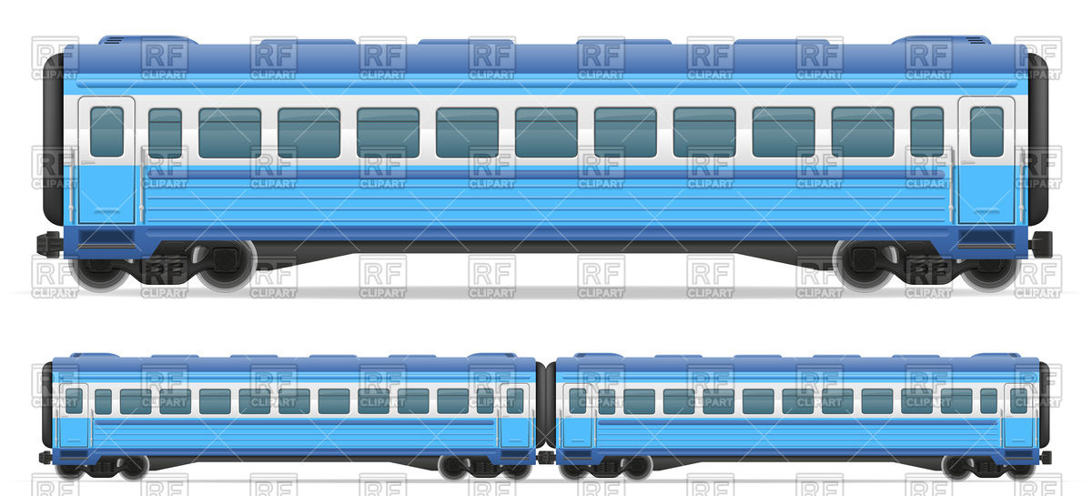 Railway passenger carriage train Vector Image #103213.