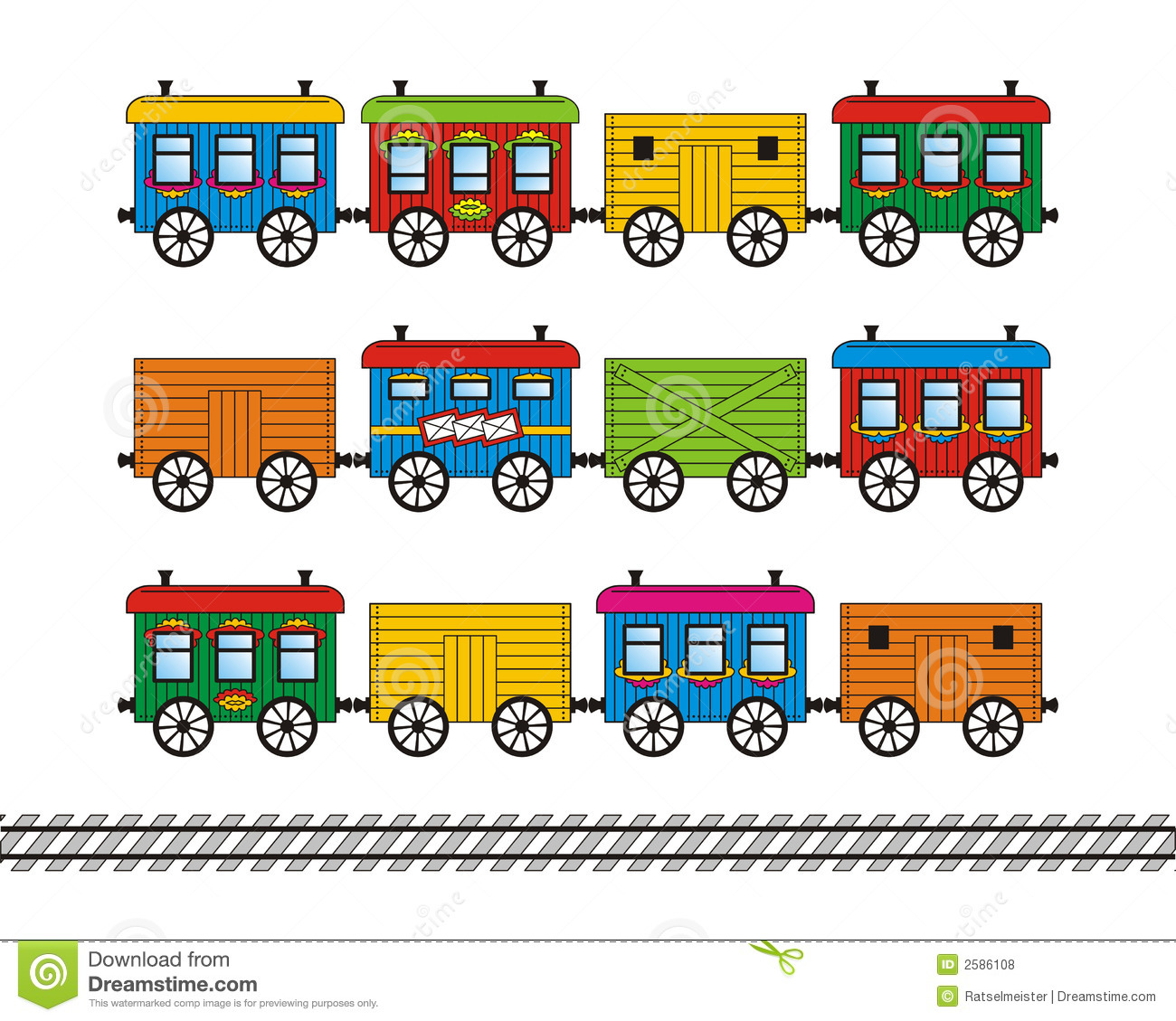 Train car clipart vector.