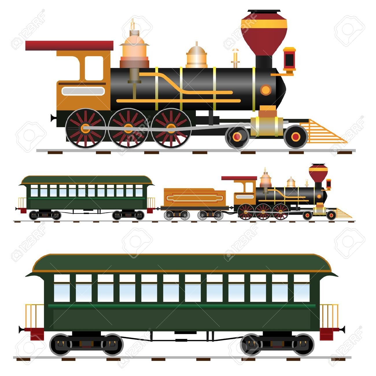 clipart steam locomotive #7