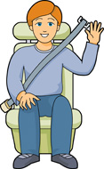 Passenger in car clipart.
