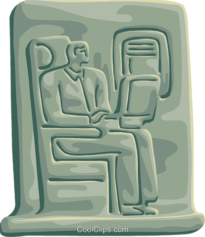Passenger Compartment Royalty Free Vector Clip Art illustration.