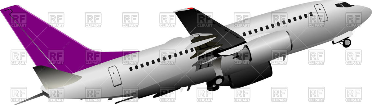 Passenger plane take off Vector Image #51331.