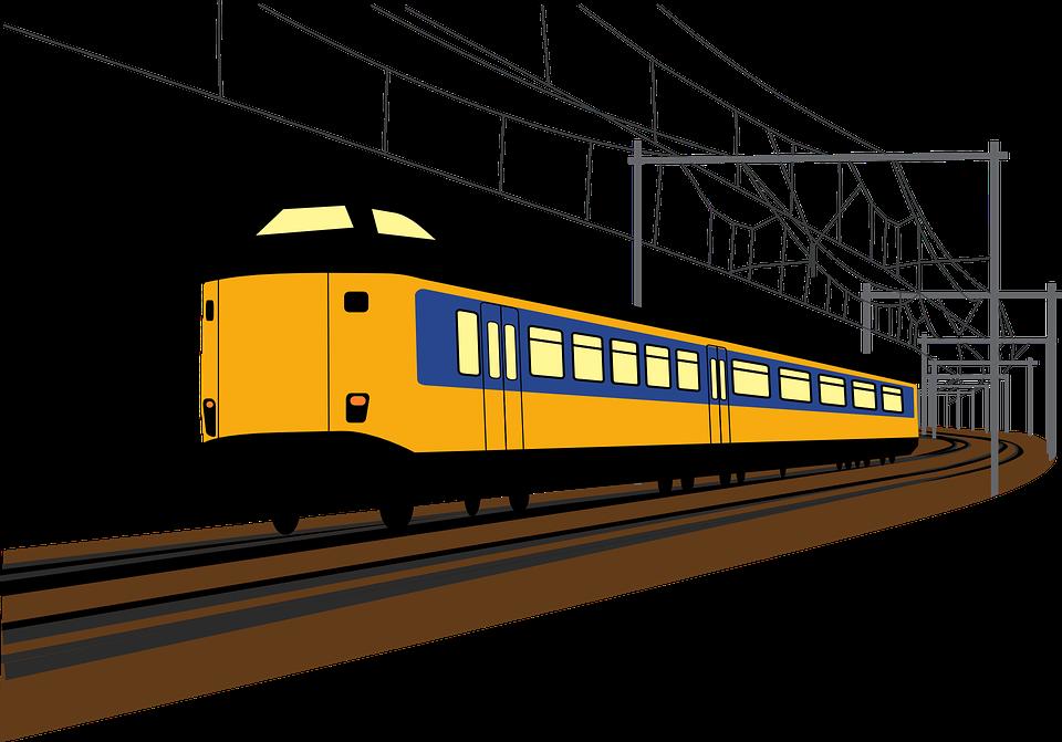 Free vector graphic: Railroad, Railway, Traffic, Train.