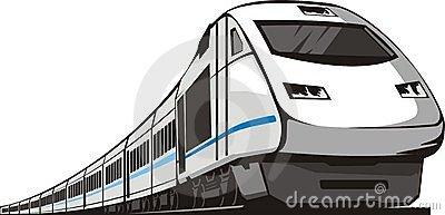 Clipart Passenger Train.