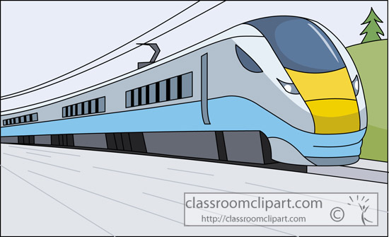 Clipart passenger train.