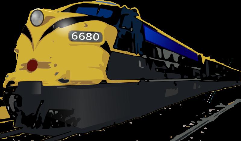 Free Passenger Train Clip Art.