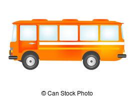 Clip Art Vector of Town passenger transport. Set. Vector.
