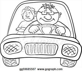 Passengers In A Car Clipart.