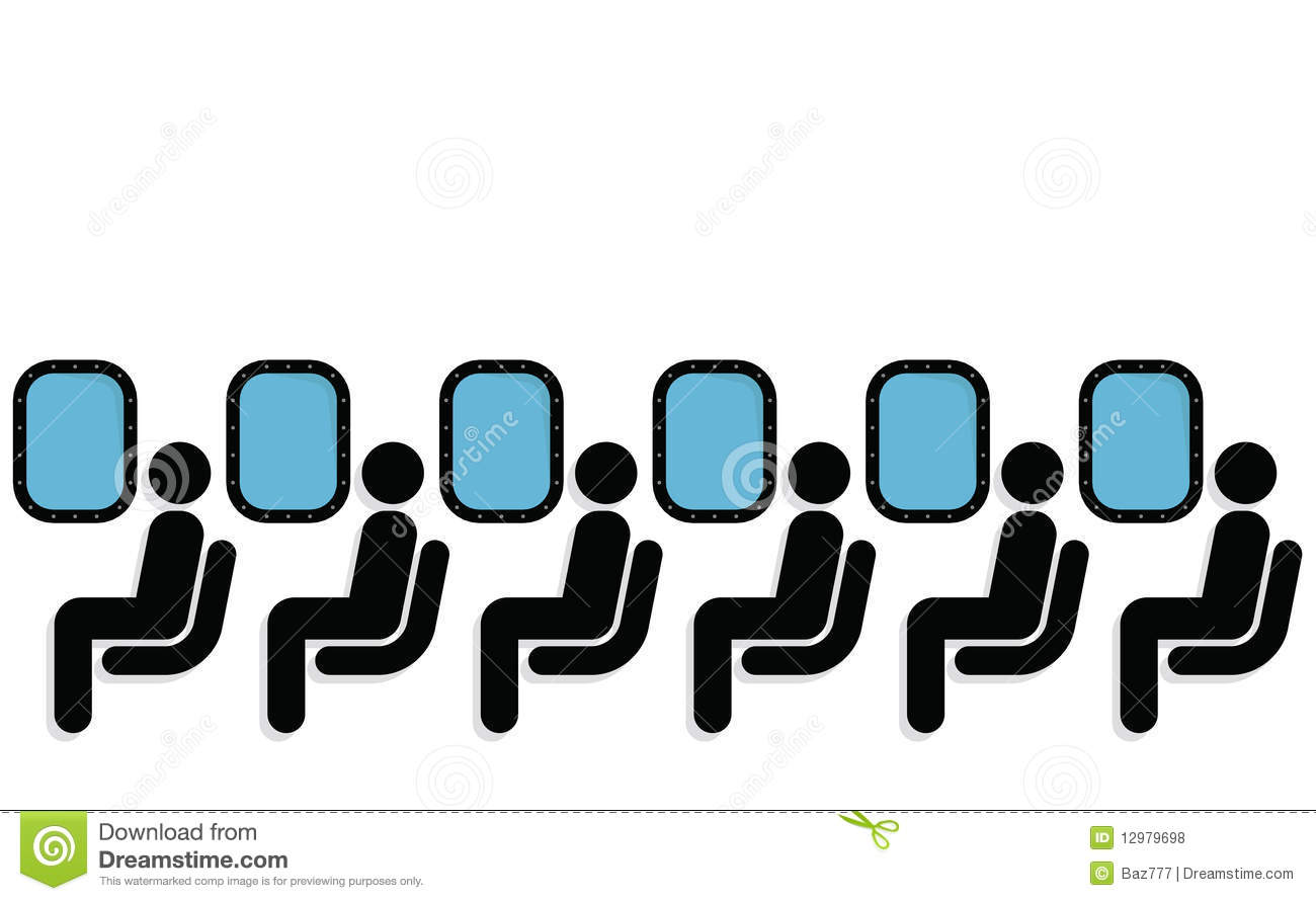 Airline Passenger Clipart.