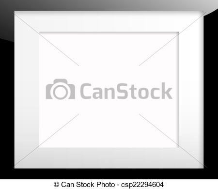 Stock Illustration of Black picture frame with passe partout.