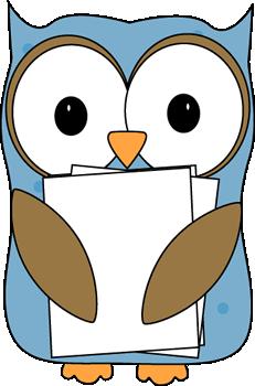 Owl Classroom Paper Passer Clip Art.