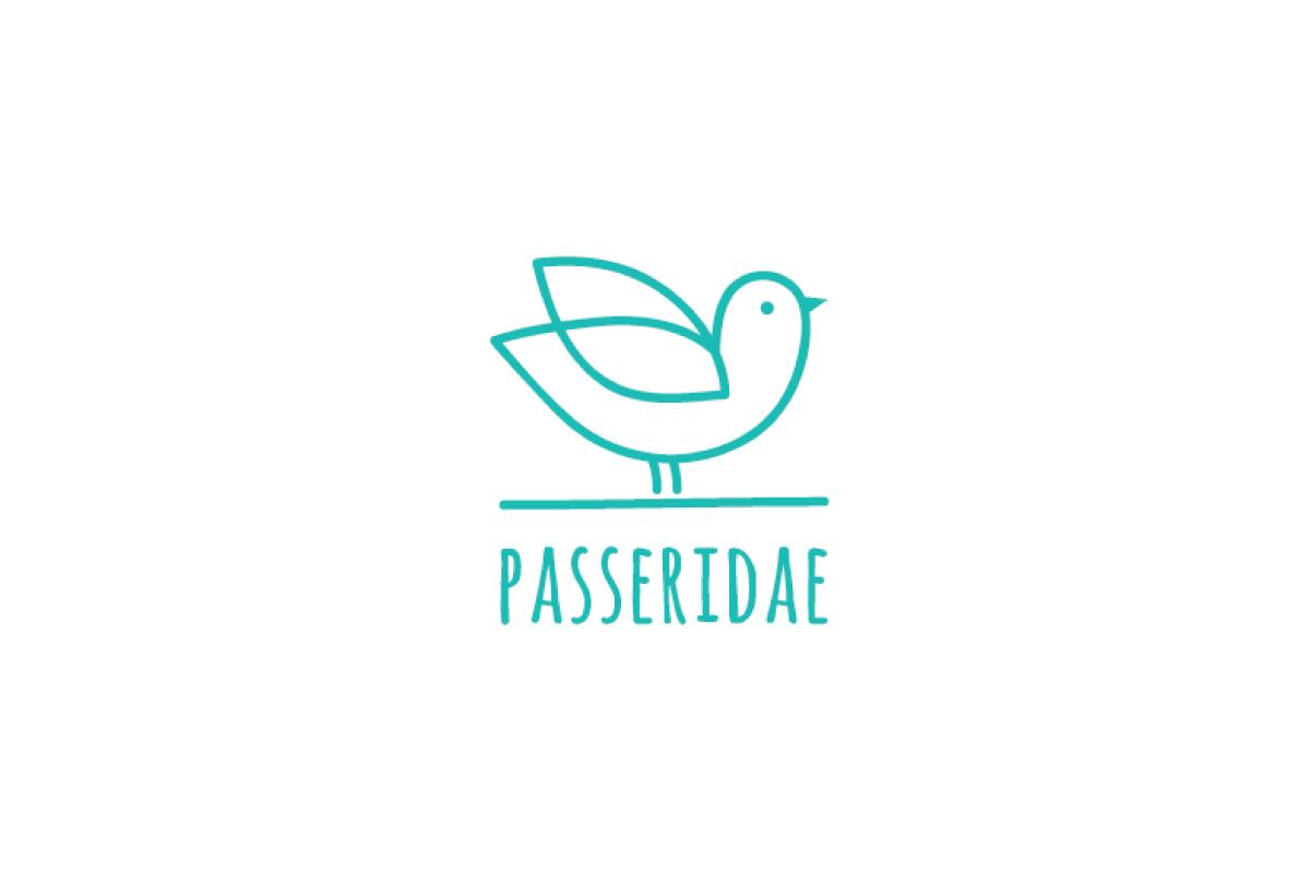 Passeridae Bird Logo Design.