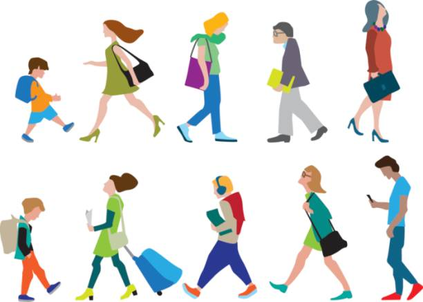 Passers By Away Clip Art, Vector Images & Illustrations.