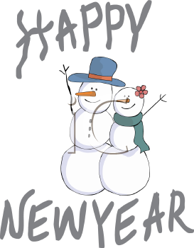 Happy New Year Snowman.