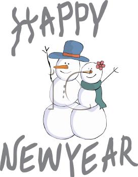 Happy New Year Snowman.