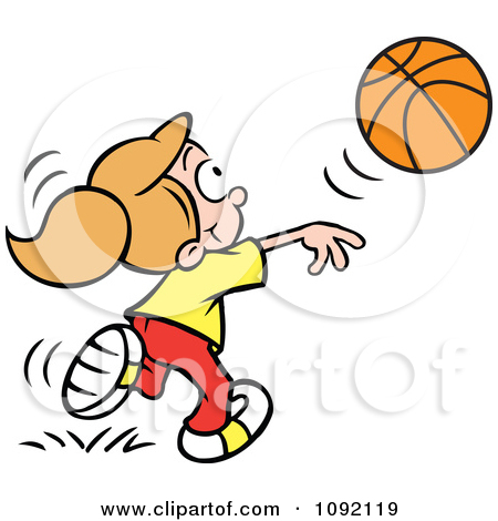 Passing the ball clipart.
