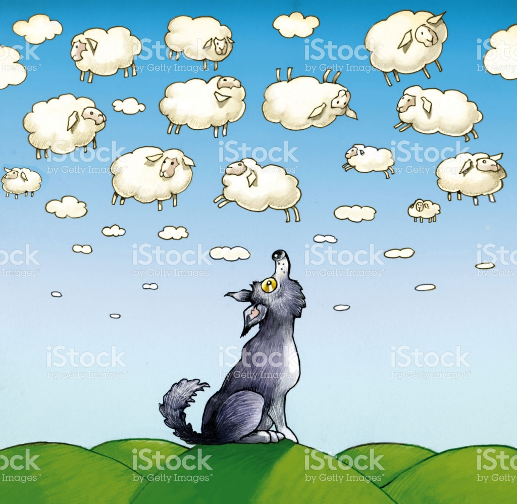 Passing Clouds stock vector art 674974188.