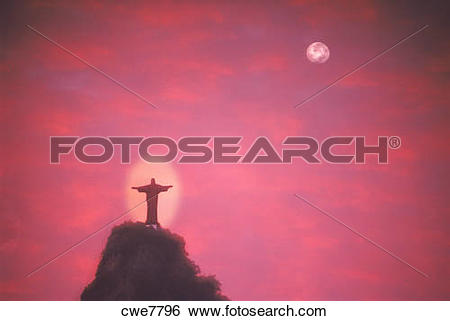 Stock Images of The Christ of Corcovado looking over Rio de.