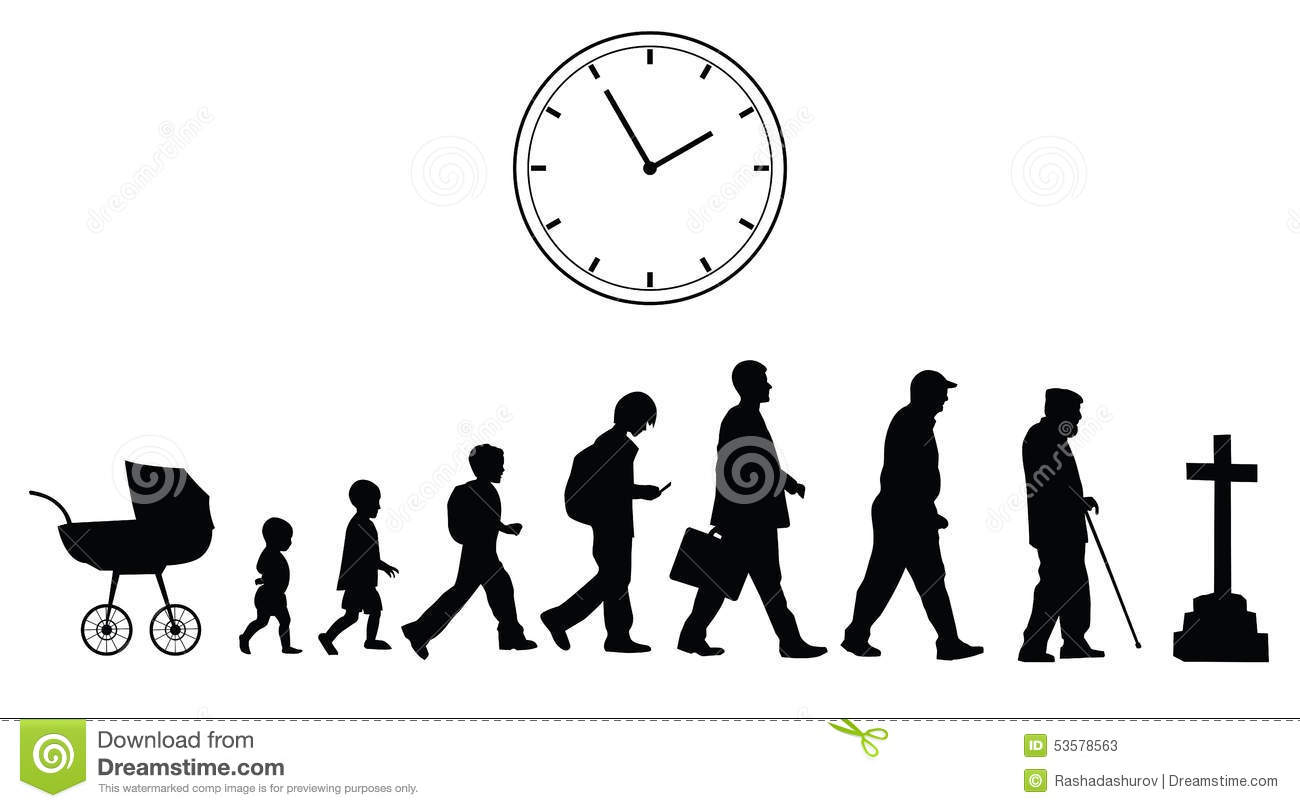 Time Passing, Vector Concept Stock Vector.