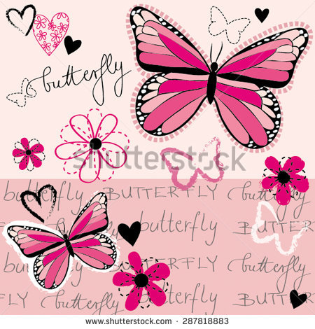Pink Butterfly Stock Photos, Royalty.