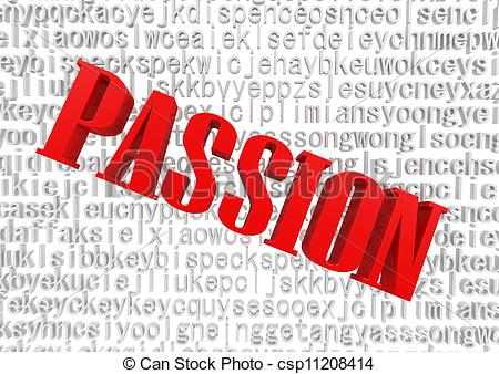 Clipart of Passion in words.