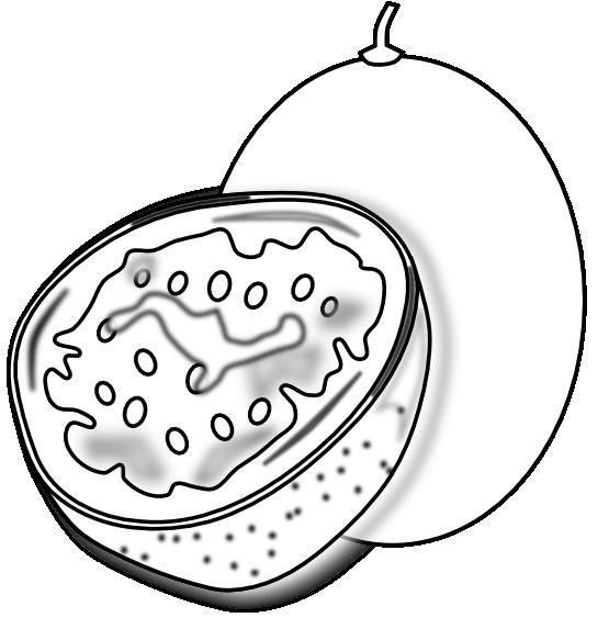 clipartist.net » Clip Art » food passion fruit passion fruit SVG.