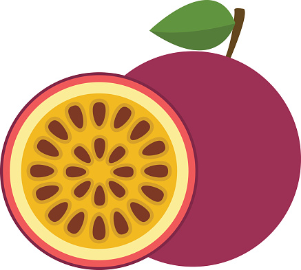 Passion fruit clipart.