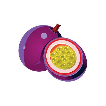 Passion Fruit Clip Art, Vector Images & Illustrations.