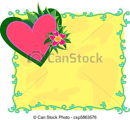 Clip Art Vector of Follow Your Passions Heart Frame.