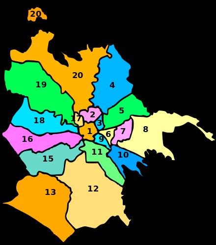 Suddivisioni di Roma.
