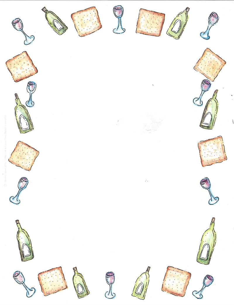 24 Images of Passover Jewish Border Template.