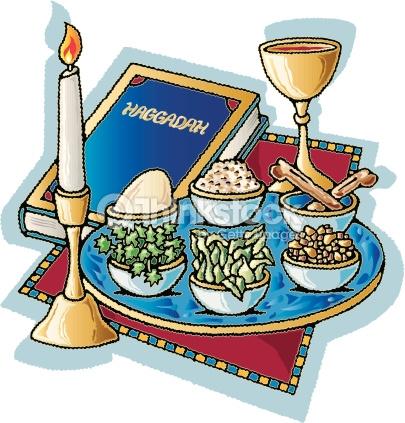 Seder Plate Passover Vector Art.